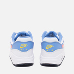 Подростковые кроссовки Nike Air Max 1 GS White/Bright Mango/Chalk/Blue фото- 3