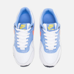 Подростковые кроссовки Nike Air Max 1 GS White/Bright Mango/Chalk/Blue фото- 4