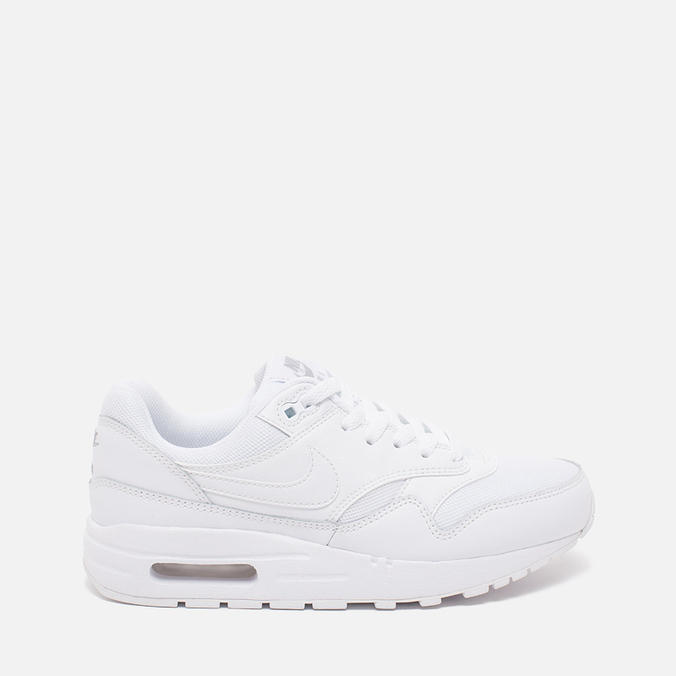 Nike Air Max 1 GS Teen Sneakers White/Metallic/Silver