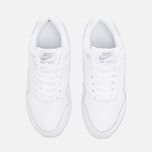 Nike Air Max 1 GS Teen Sneakers White/Metallic/Silver photo- 4