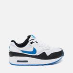 Подростковые кроссовки Nike Air Max 1 GS White/Photo Blue/Black фото- 0
