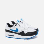 Подростковые кроссовки Nike Air Max 1 GS White/Photo Blue/Black фото- 1