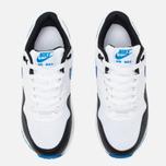 Подростковые кроссовки Nike Air Max 1 GS White/Photo Blue/Black фото- 4