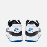 Подростковые кроссовки Nike Air Max 1 GS White/Photo Blue/Black фото- 3