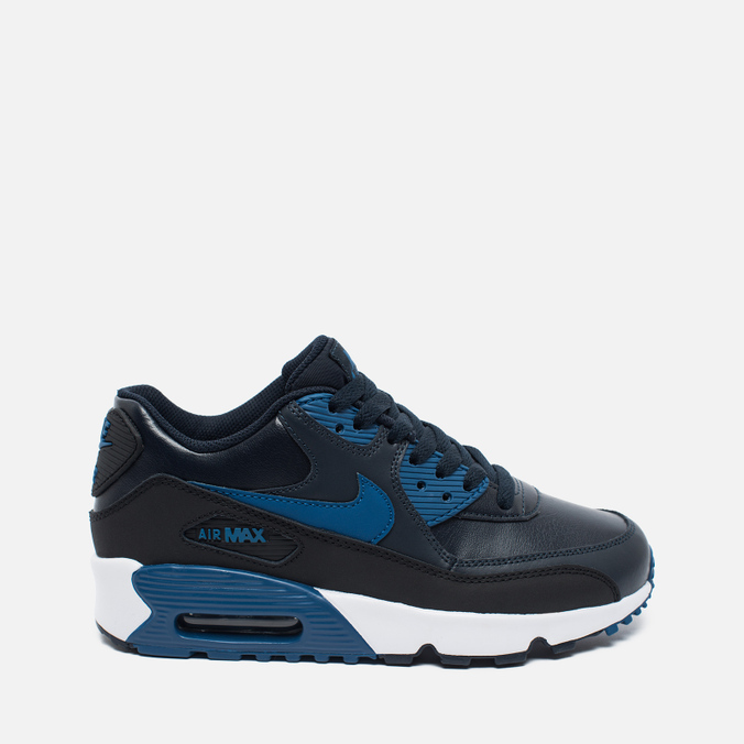 Nike Air Max 90 Leather Children's Sneakers Navy/White