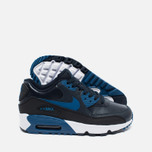 Nike Air Max 90 Leather Children's Sneakers Navy/White photo- 2