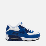 Nike Air Max 90 Leather Teen Sneakers White/Blue photo- 0