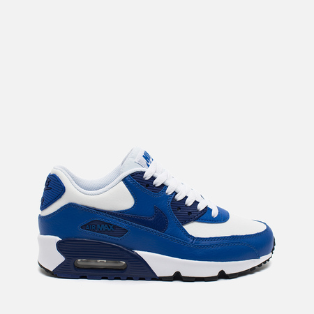 Nike Air Max 90 Leather Teen Sneakers White/Blue