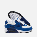 Nike Air Max 90 Leather Teen Sneakers White/Blue photo- 2