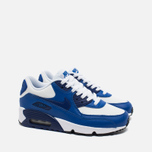 Nike Air Max 90 Leather Teen Sneakers White/Blue photo- 1