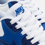 Nike Air Max 90 Leather Teen Sneakers White/Blue photo- 5