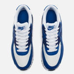 Nike Air Max 90 Leather Teen Sneakers White/Blue photo- 4