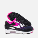 Подростковые кроссовки Nike Air Max 90 Mesh GS Black/White/Volt/Bright Crimson фото- 2