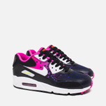 Подростковые кроссовки Nike Air Max 90 Mesh GS Black/White/Volt/Bright Crimson фото- 1