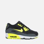 Подростковые кроссовки Nike Air Max 90 Mesh GS Grey/Black/Yellow/White фото- 0