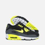 Подростковые кроссовки Nike Air Max 90 Mesh GS Grey/Black/Yellow/White фото- 2