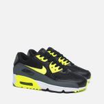 Подростковые кроссовки Nike Air Max 90 Mesh GS Grey/Black/Yellow/White фото- 1