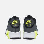 Подростковые кроссовки Nike Air Max 90 Mesh GS Grey/Black/Yellow/White фото- 3