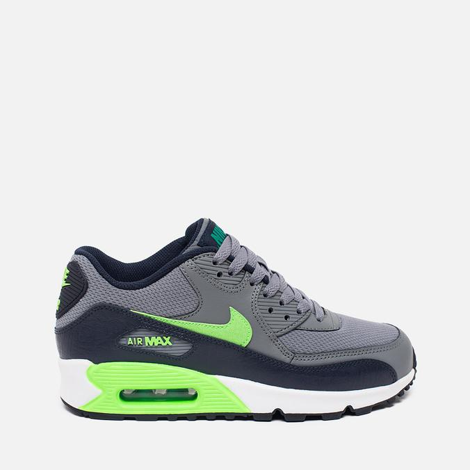 Подростковые кроссовки Nike Air Max 90 Mesh GS Grey/Green