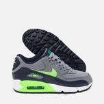 Подростковые кроссовки Nike Air Max 90 Mesh GS Grey/Green фото- 2