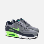 Подростковые кроссовки Nike Air Max 90 Mesh GS Grey/Green фото- 1
