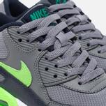 Подростковые кроссовки Nike Air Max 90 Mesh GS Grey/Green фото- 5