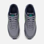 Подростковые кроссовки Nike Air Max 90 Mesh GS Grey/Green фото- 4