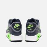 Подростковые кроссовки Nike Air Max 90 Mesh GS Grey/Green фото- 3