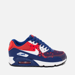 Подростковые кроссовки Nike Air Max 90 Mesh GS Royal Blue/Light Crimson/Black фото- 0