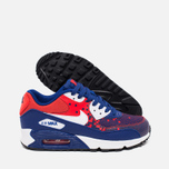 Подростковые кроссовки Nike Air Max 90 Mesh GS Royal Blue/Light Crimson/Black фото- 2