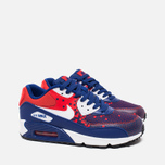 Подростковые кроссовки Nike Air Max 90 Mesh GS Royal Blue/Light Crimson/Black фото- 1