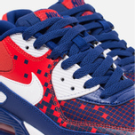 Подростковые кроссовки Nike Air Max 90 Mesh GS Royal Blue/Light Crimson/Black фото- 5