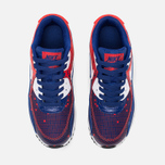 Подростковые кроссовки Nike Air Max 90 Mesh GS Royal Blue/Light Crimson/Black фото- 4