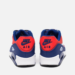 Подростковые кроссовки Nike Air Max 90 Mesh GS Royal Blue/Light Crimson/Black фото- 3