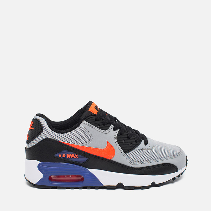 Подростковые кроссовки Nike Air Max 90 Mesh Wolf Grey/Dark Purple Dust/White