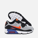 Nike Air Max 90 Mesh Teen Sneakers Wolf Grey/Dark Purple Dust/White photo- 2