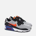 Nike Air Max 90 Mesh Teen Sneakers Wolf Grey/Dark Purple Dust/White photo- 1