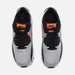 Nike Air Max 90 Mesh Teen Sneakers Wolf Grey/Dark Purple Dust/White photo- 4