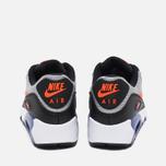 Nike Air Max 90 Mesh Teen Sneakers Wolf Grey/Dark Purple Dust/White photo- 3