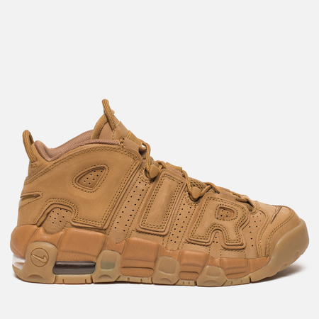 Подростковые кроссовки Nike Air More Uptempo SE GS Flax/Flax/Gum Light Brown