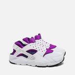 Подростковые кроссовки Nike Huarache Run GS White/Hyper Violet фото- 1