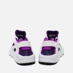 Подростковые кроссовки Nike Huarache Run GS White/Hyper Violet фото- 3