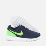Подростковые кроссовки Nike Roshe One GS Obsidian/White/Voltage Green фото- 2