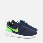 Подростковые кроссовки Nike Roshe One GS Obsidian/White/Voltage Green фото- 1