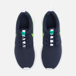 Подростковые кроссовки Nike Roshe One GS Obsidian/White/Voltage Green фото- 4