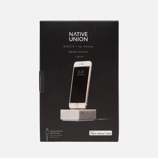 Подставка Native Union Dock And Apple Lightning 1.2m Marble White