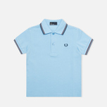 Детское поло Fred Perry SY1200 Twin Tipped Sky Blue/Port/Indigo фото- 0
