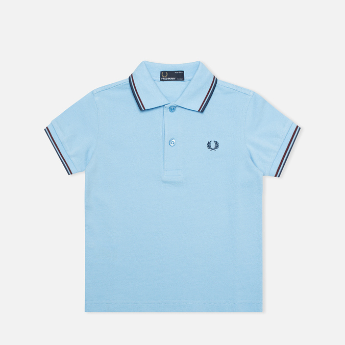 Детское поло Fred Perry SY1200 Twin Tipped Sky Blue/Port/Indigo