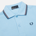 Детское поло Fred Perry SY1200 Twin Tipped Sky Blue/Port/Indigo фото- 1