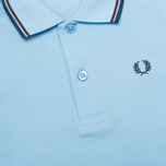 Детское поло Fred Perry SY1200 Twin Tipped Sky Blue/Port/Indigo фото- 2